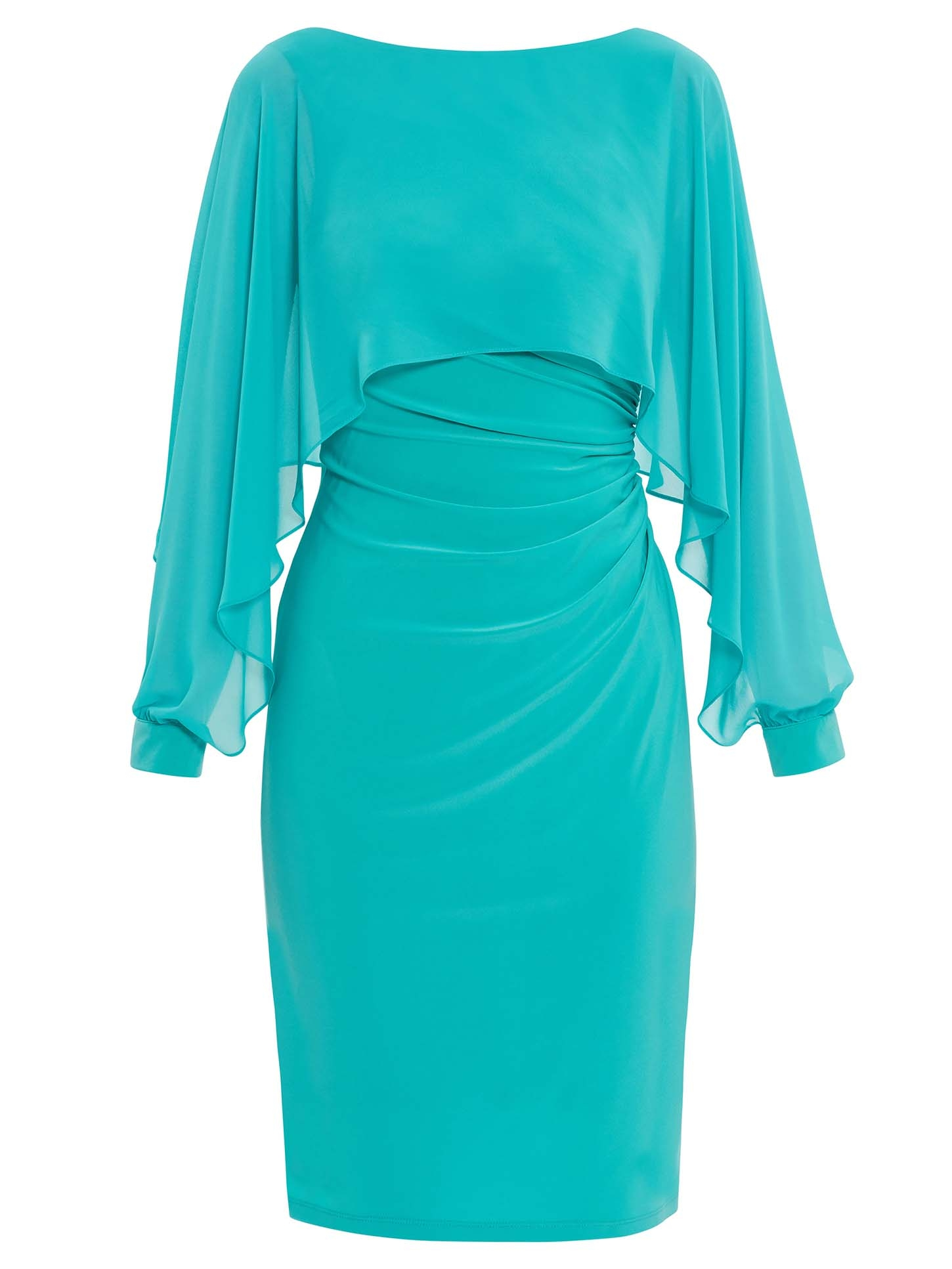 Olma Jersey And Chiffon Dress