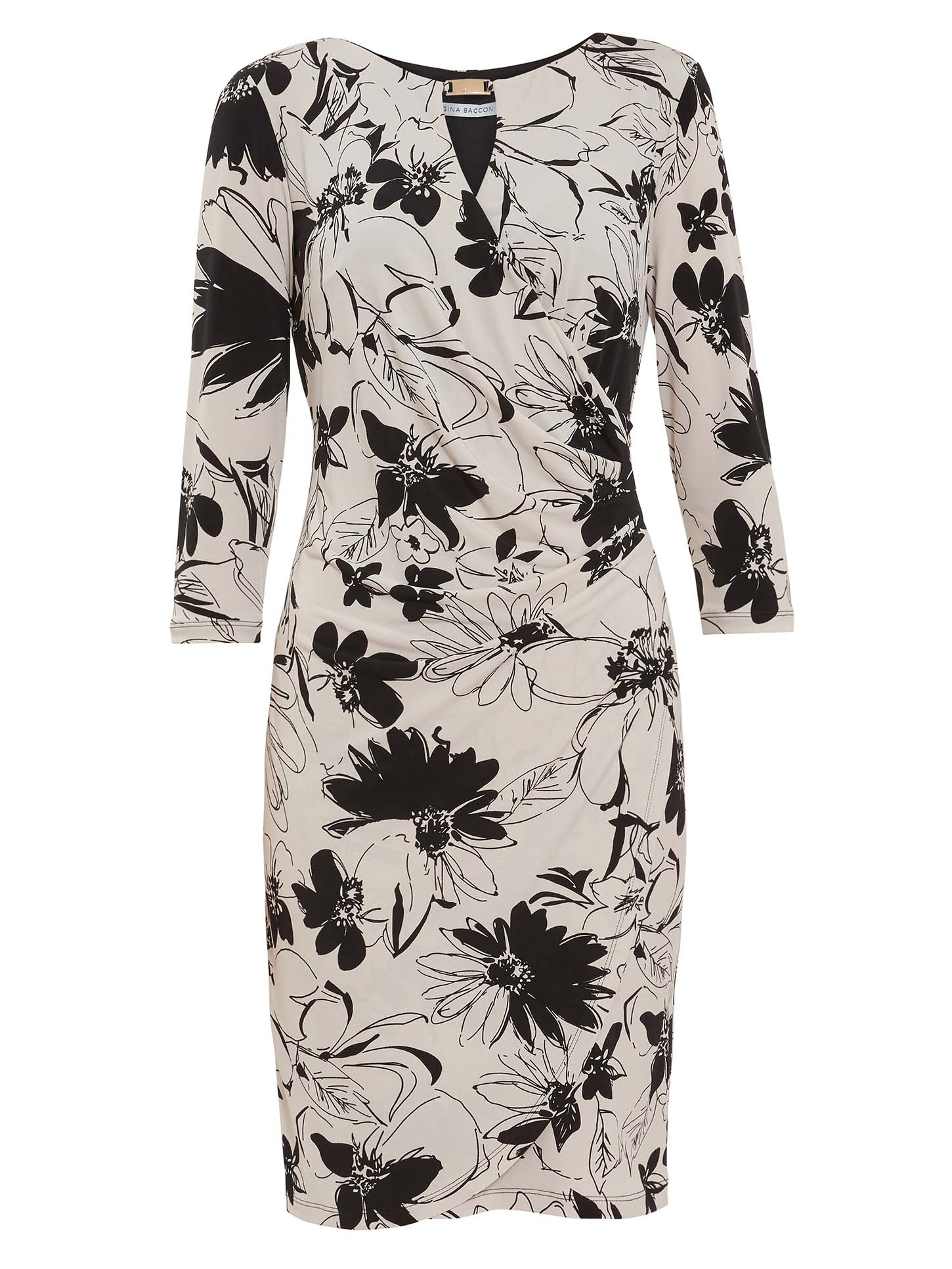 Cladine Floral Jersey Dress