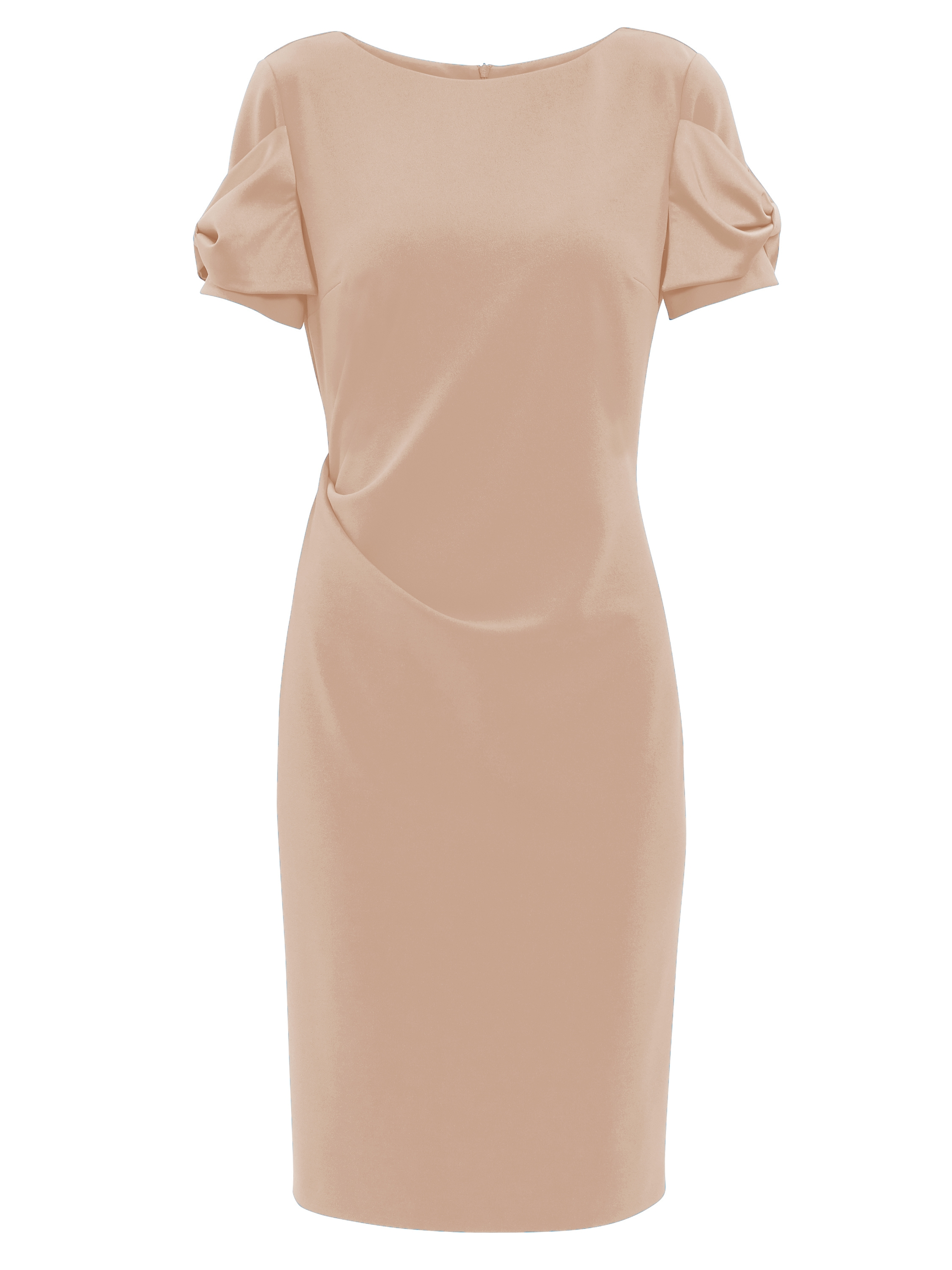 Lorene Crepe Dress With Satin Bows