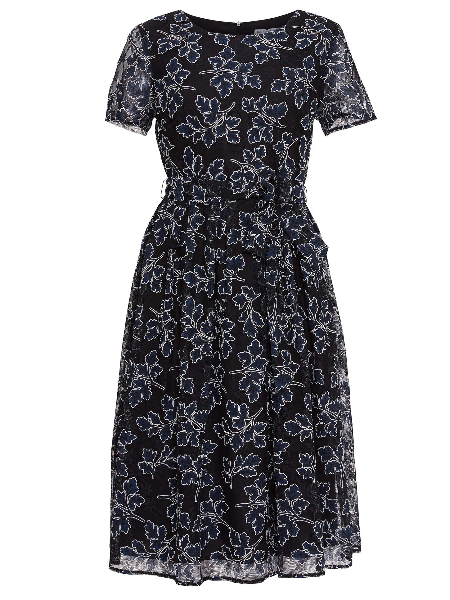 Moriko Embroidered Dress With Tie Waist