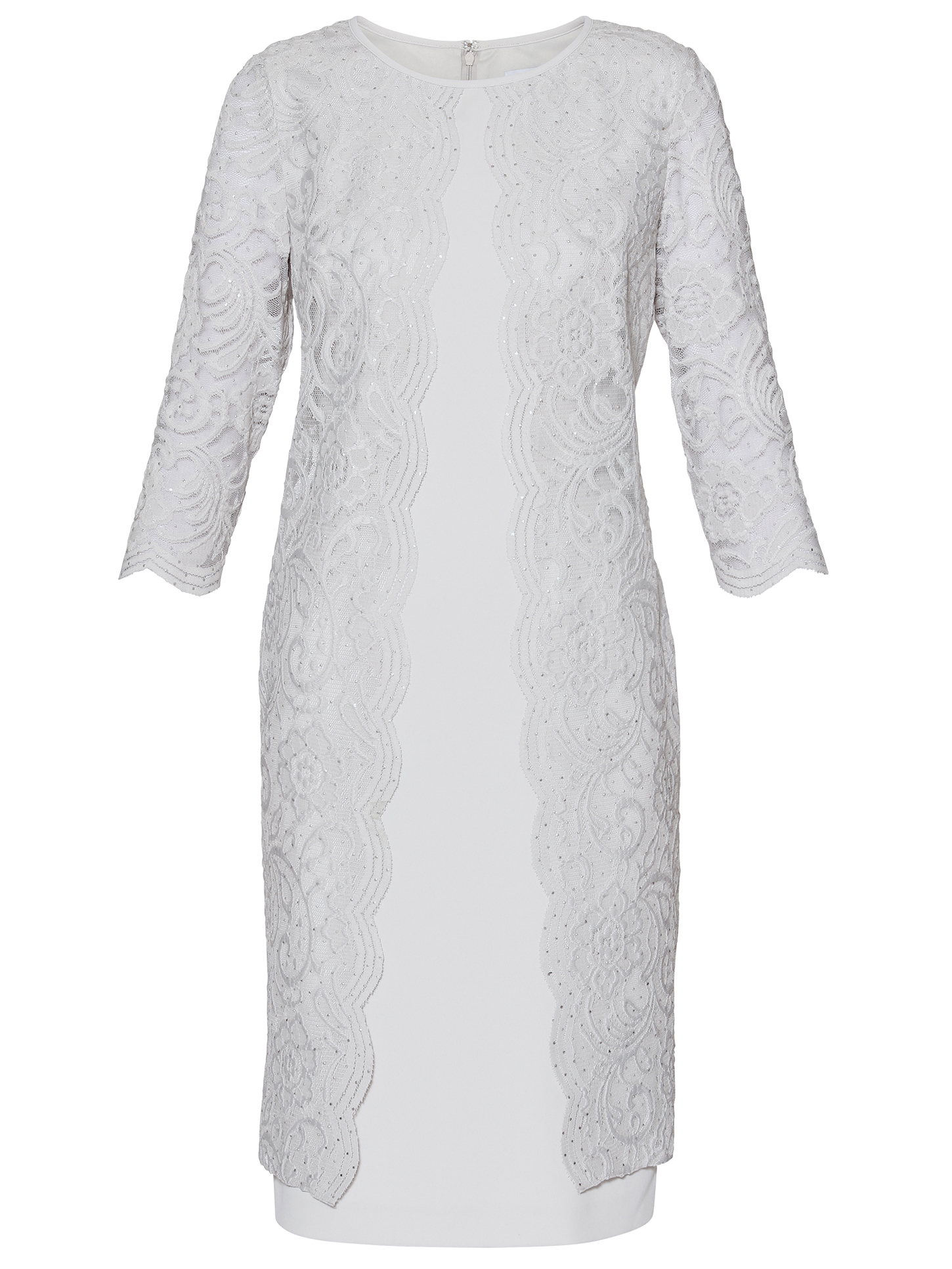 Clarabelle Crepe And Lace Dress