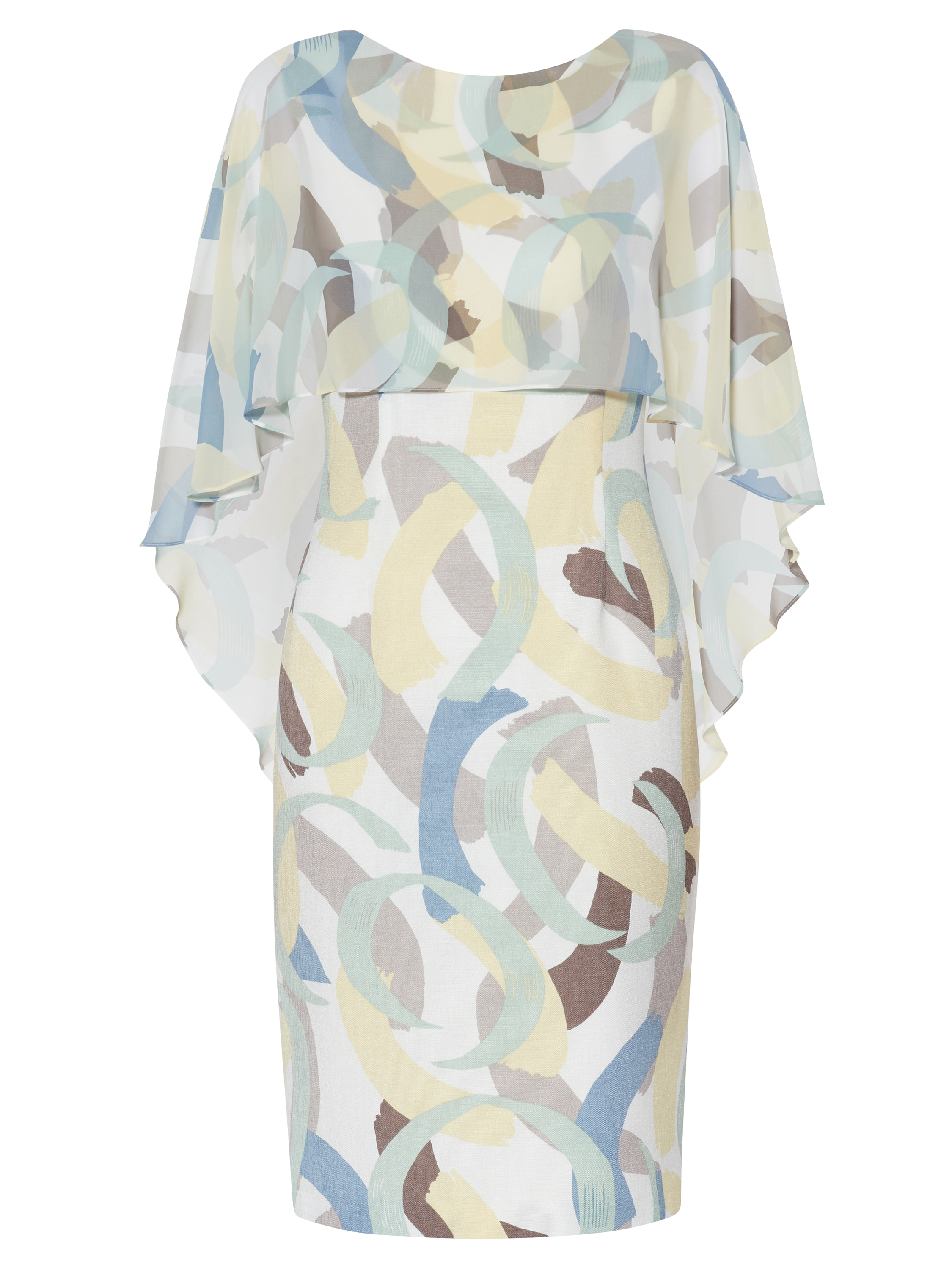 Maisie Print Dress And Cape