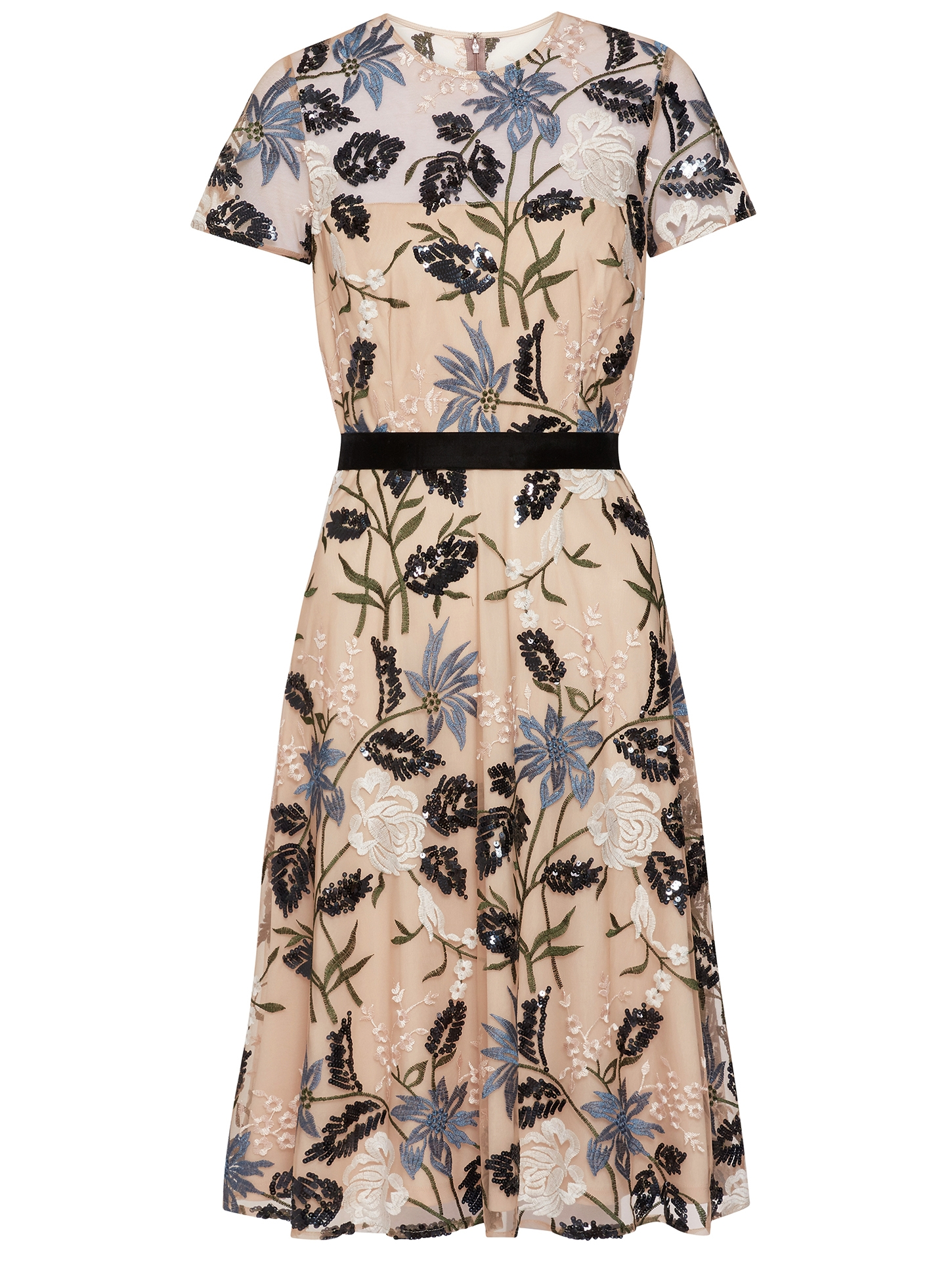 Elenia Sequin Embroidered Dress