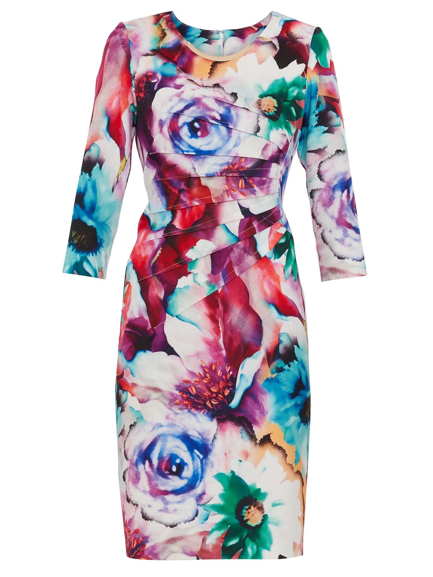 Lareina Floral Scuba Dress