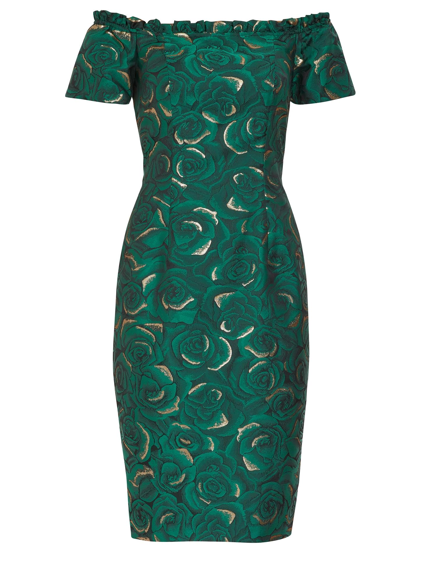 Coraima Floral Jacquard Dress