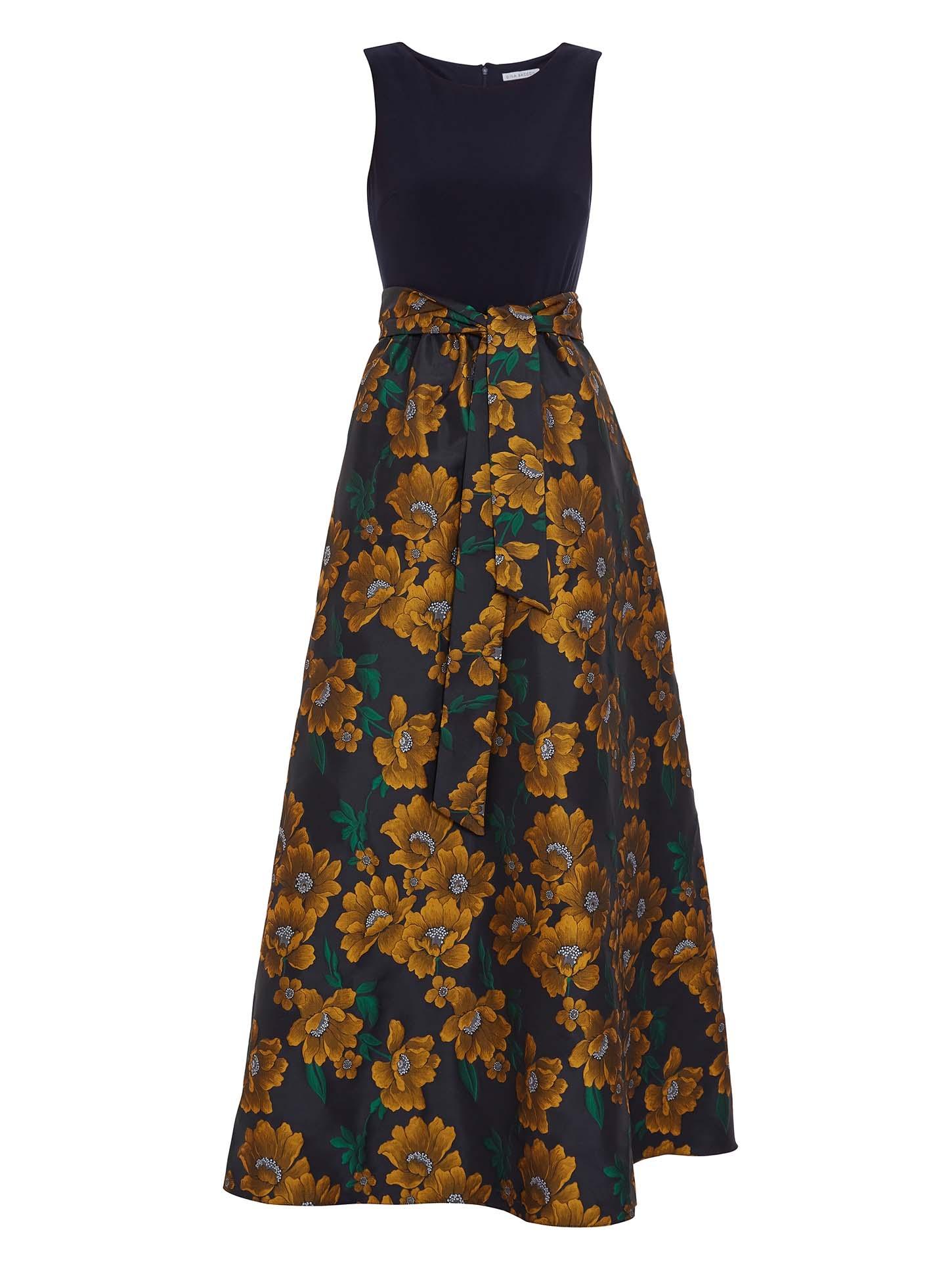 Saira Jacquard Maxi Dress
