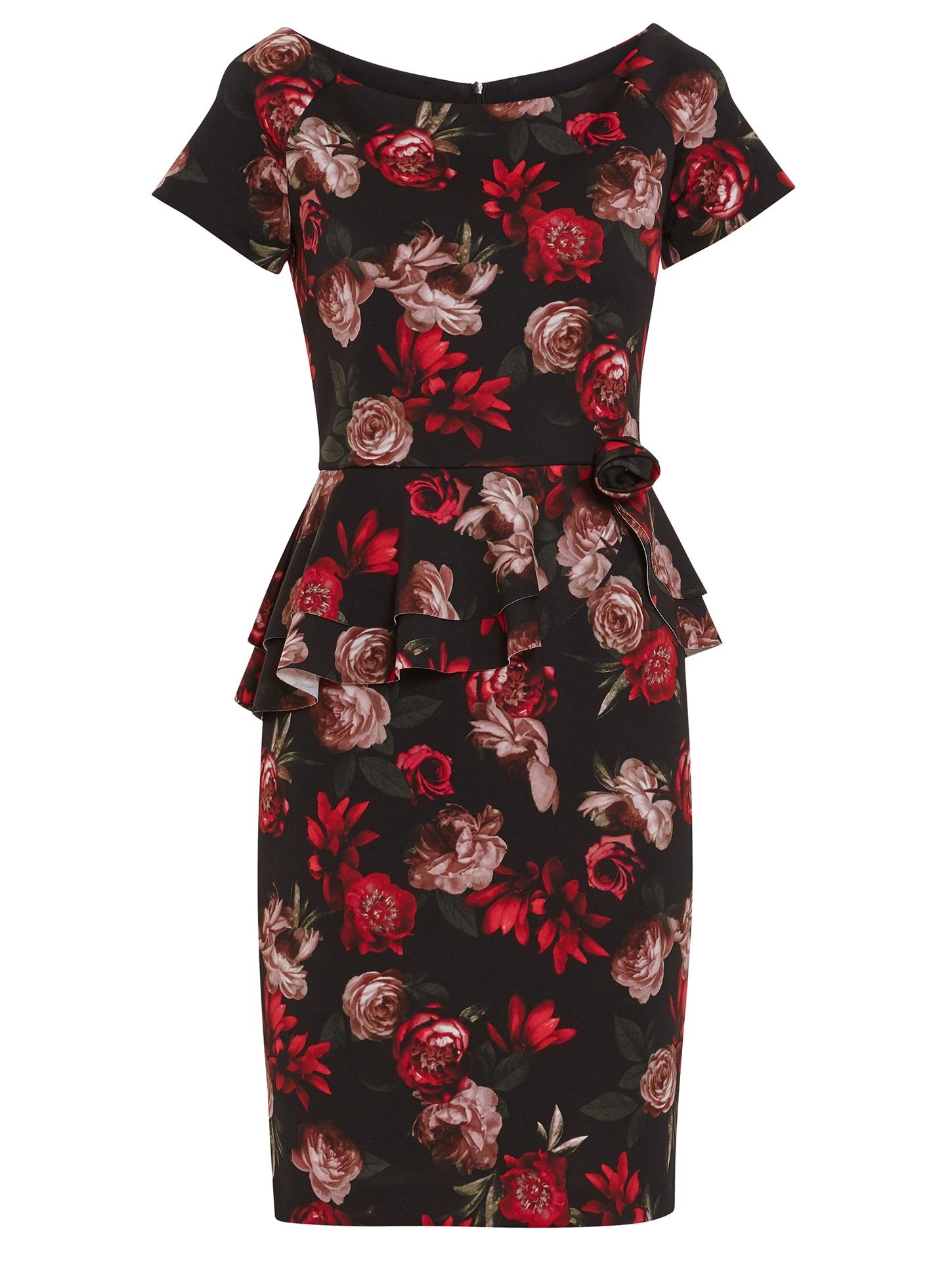 Glorielle Floral Scuba Dress