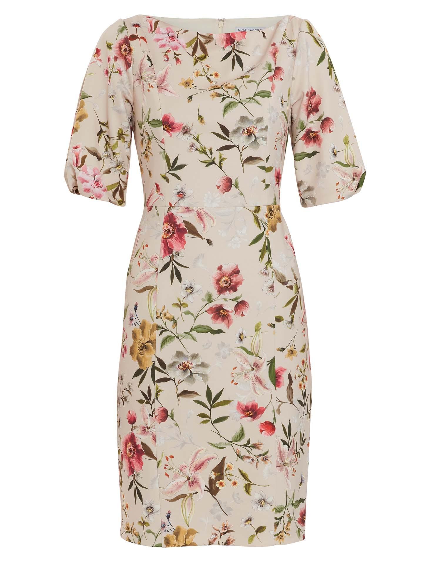 Matia Floral Scuba Dress
