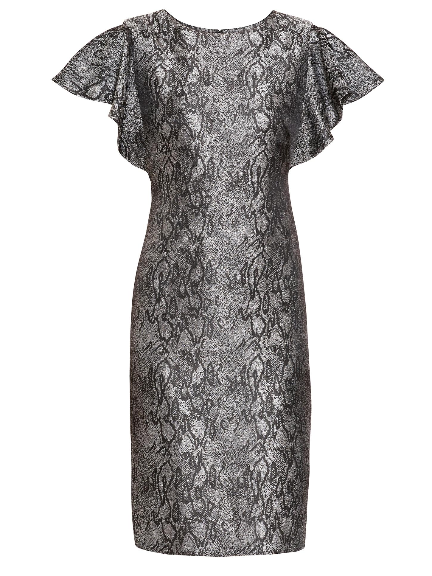 Joslyn Snake Jacquard Dress