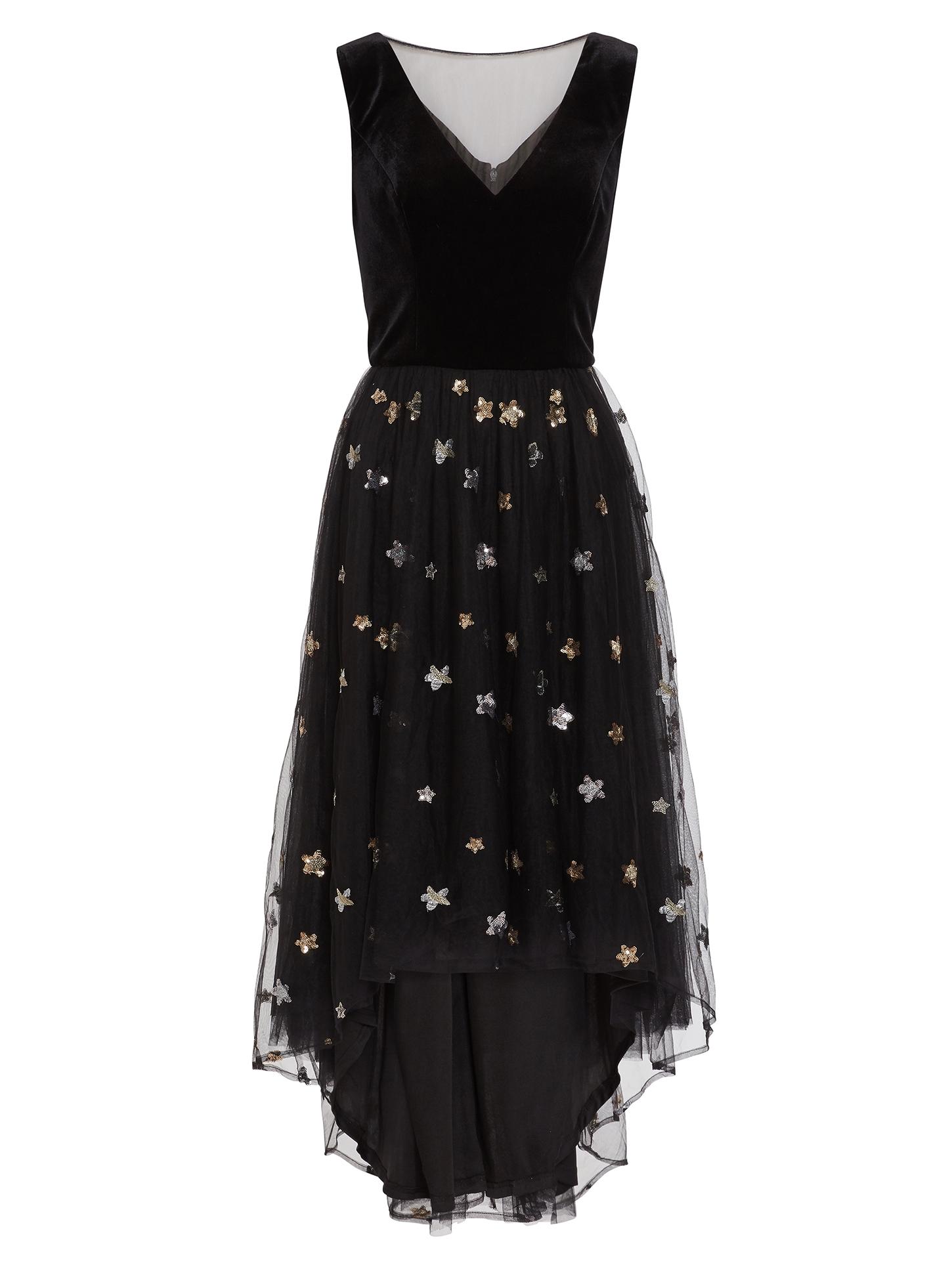 Eivet Chiffon And Velvet Dress