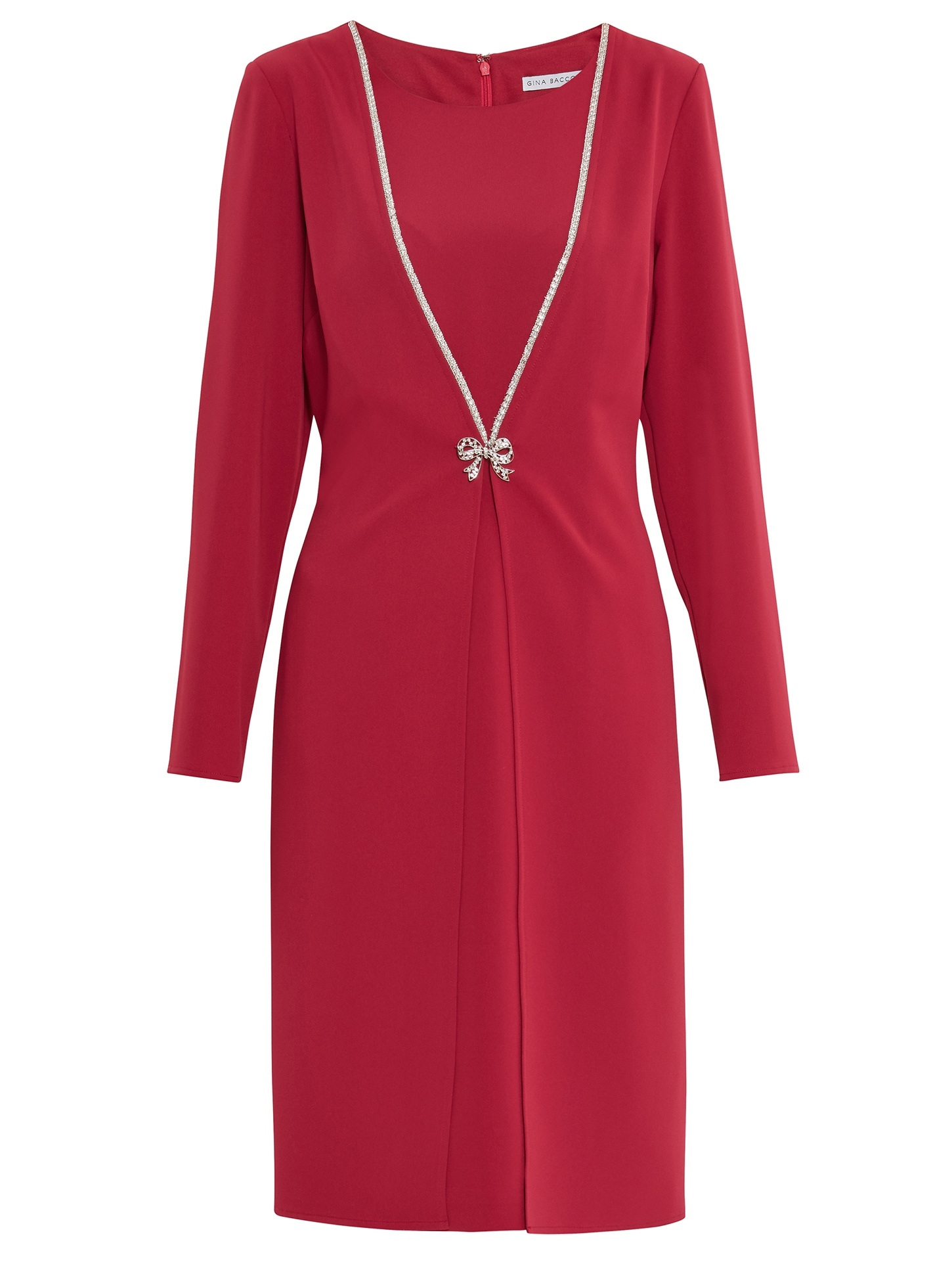 Sedona Coat Dress With Brooch