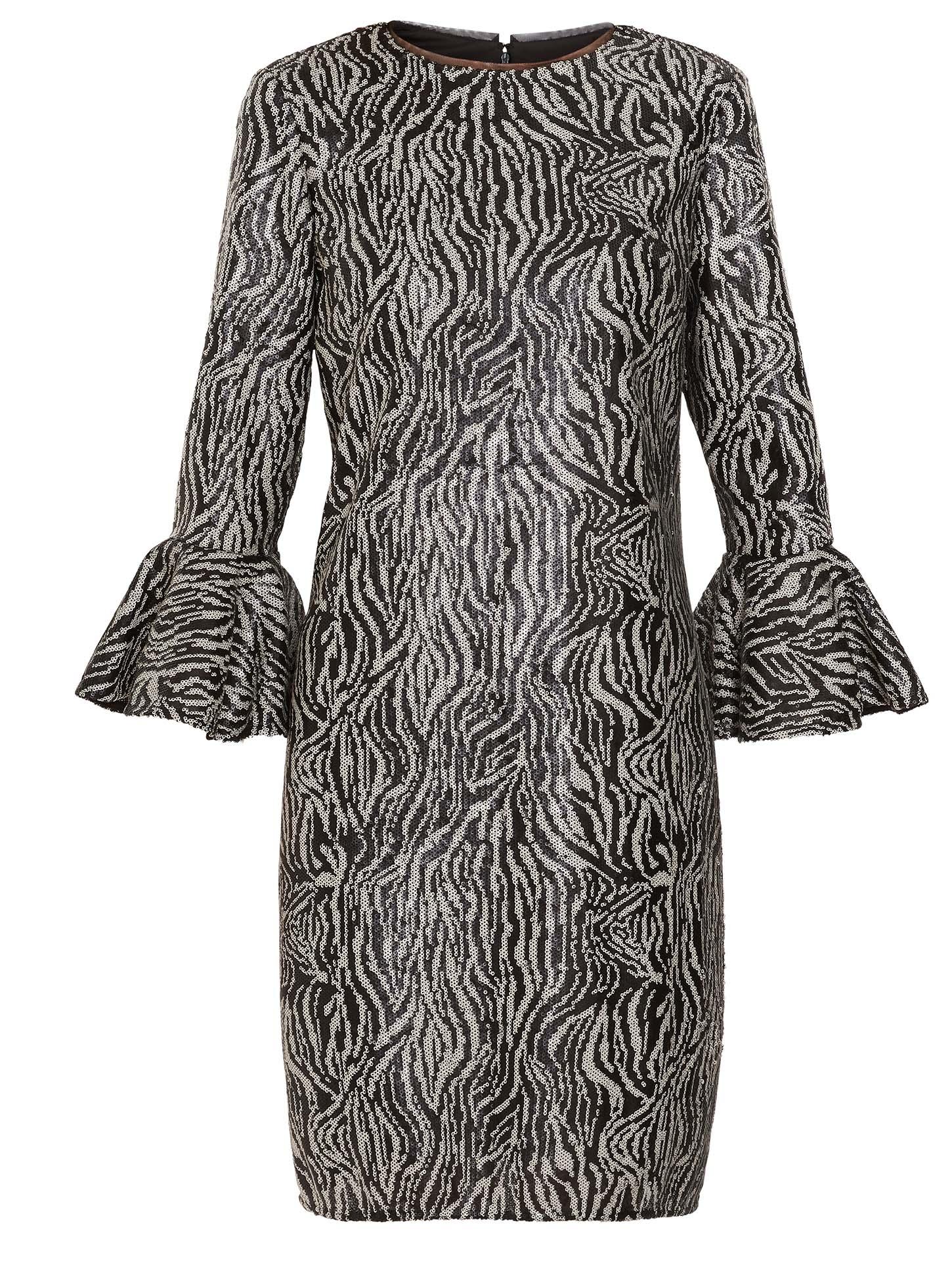Edrie Zebra Sequin Dress