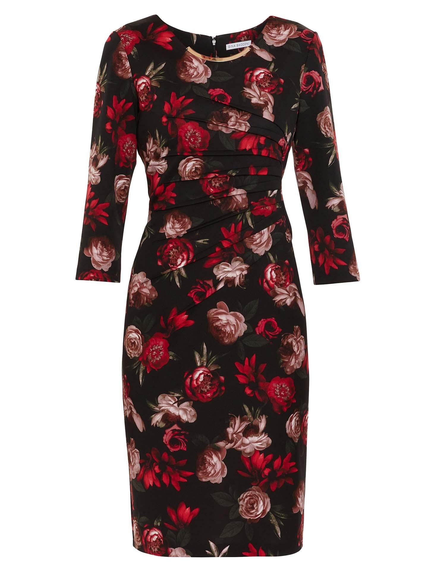Franya Floral Scuba Dress