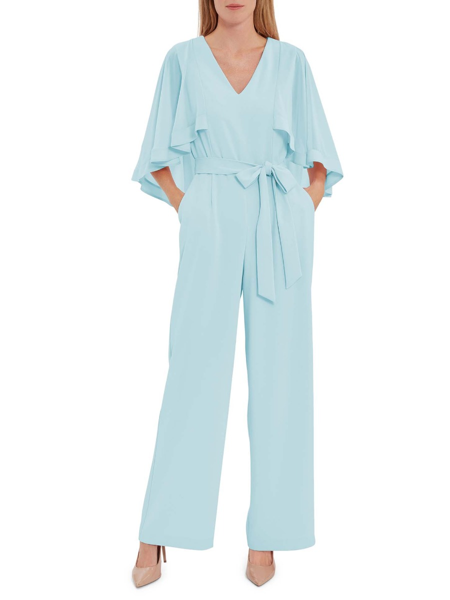 Lydia Crepe And Chiffon Jumpsuit