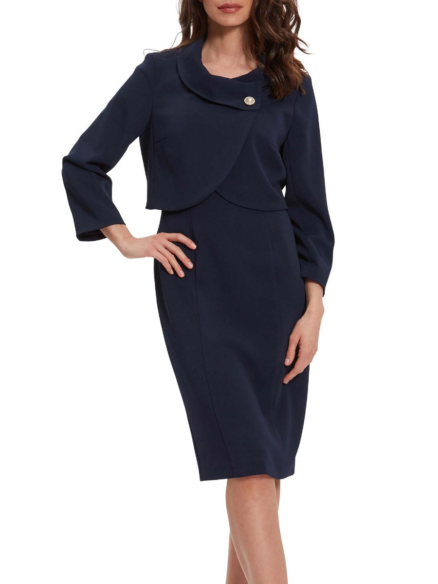 Bianna Moss Crepe Dress And Jacket