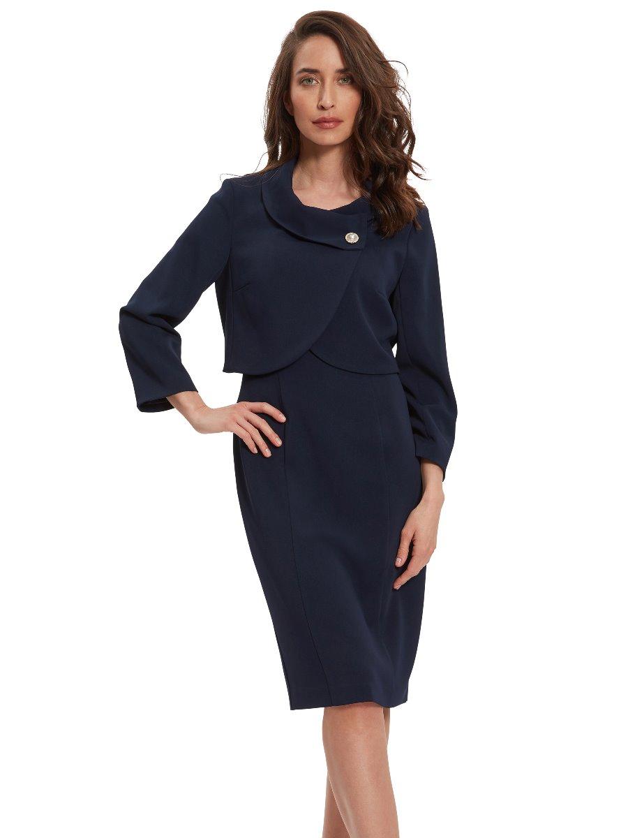 Bianna Moss Crepe Dress And Jacket