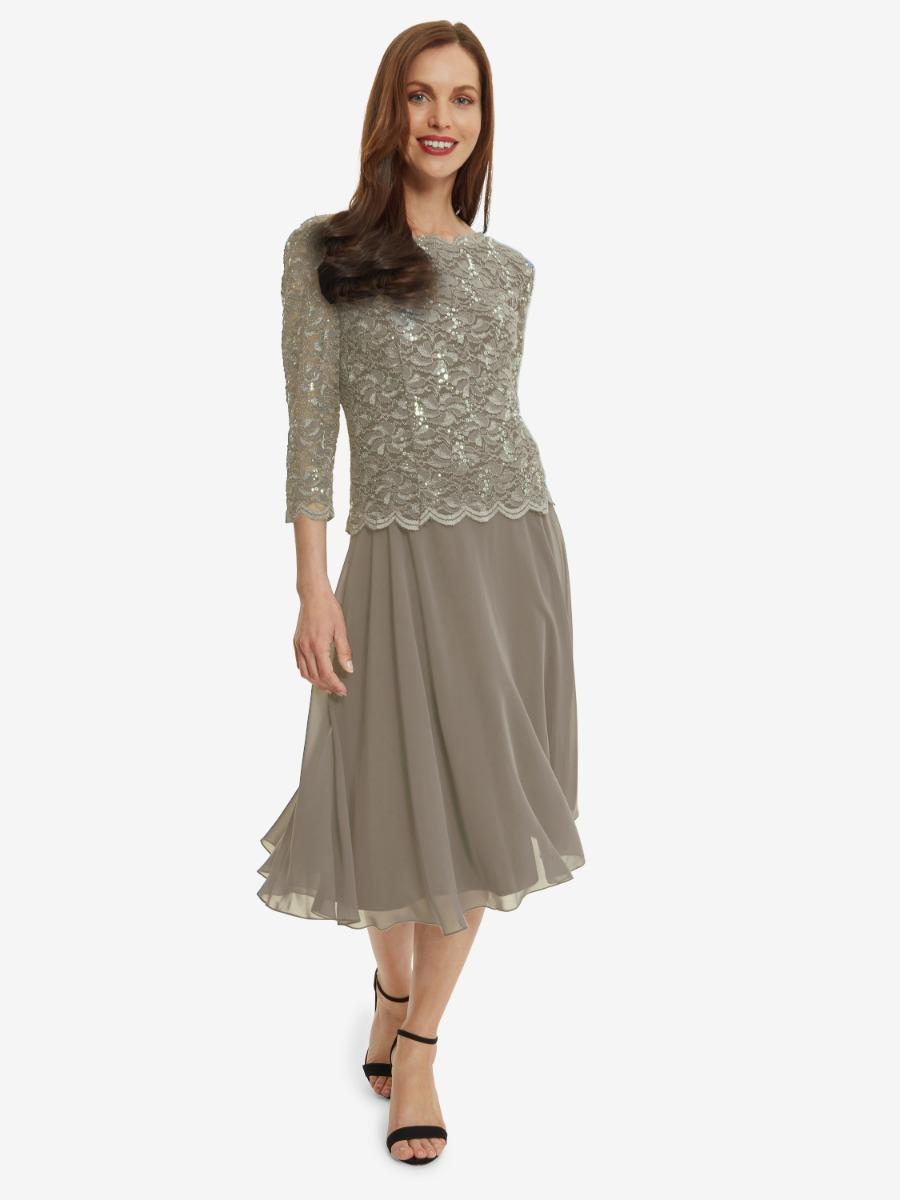 Albany Lace Dress with Chiffon Skirt