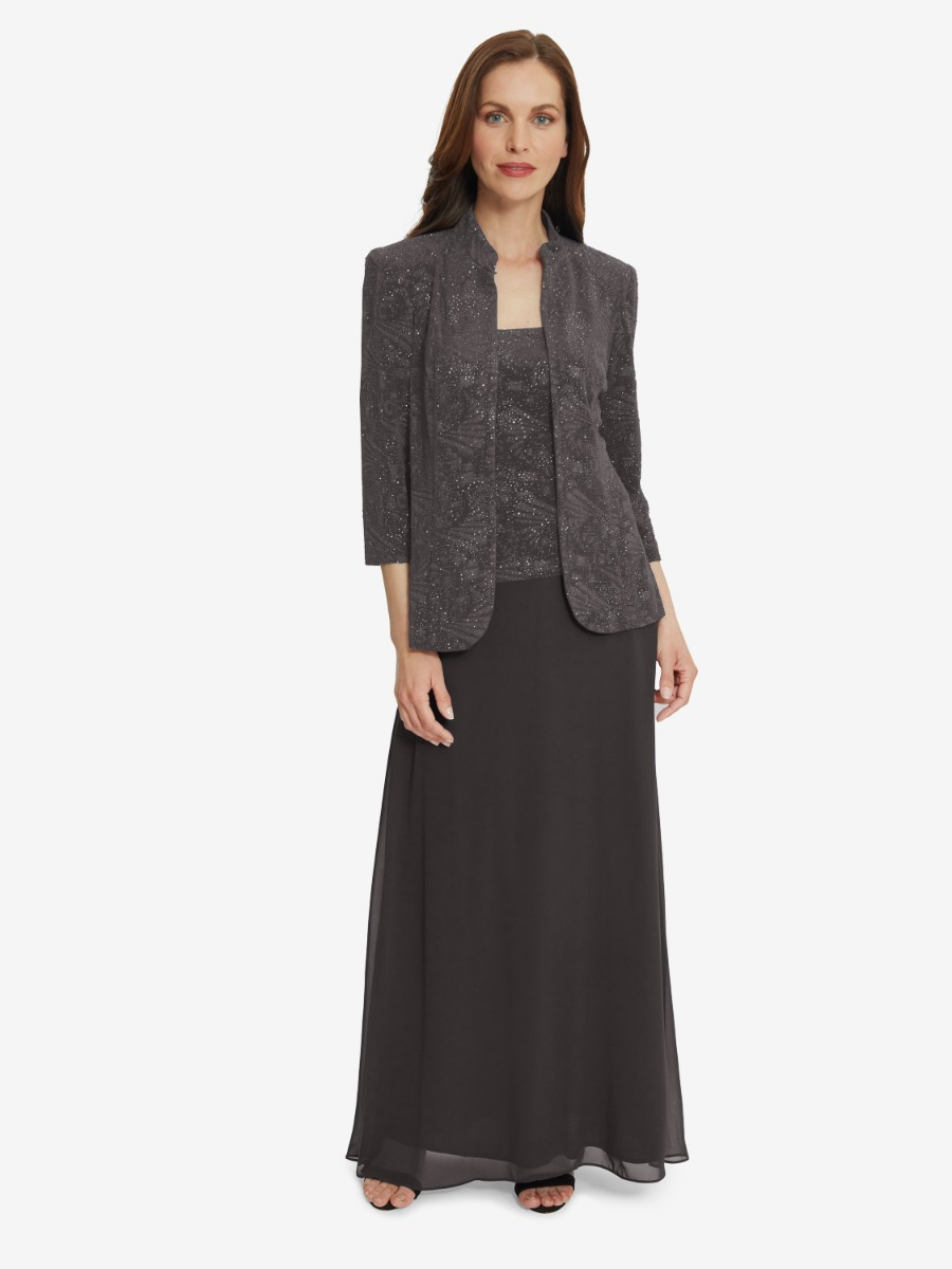 Valerie Jacket And Dress With Chiffon Skirt