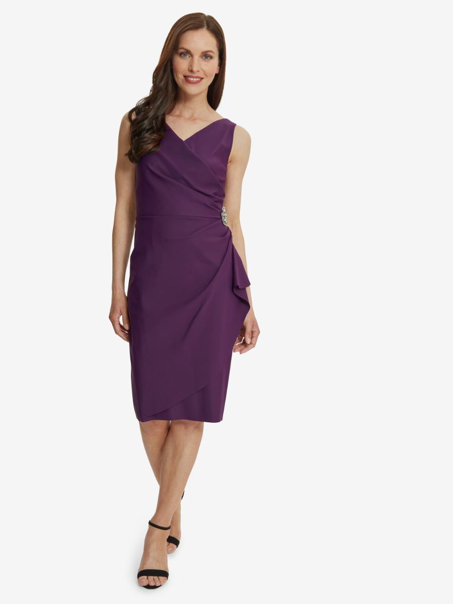 Sherry Wrap Dress With Beaded Embellishment