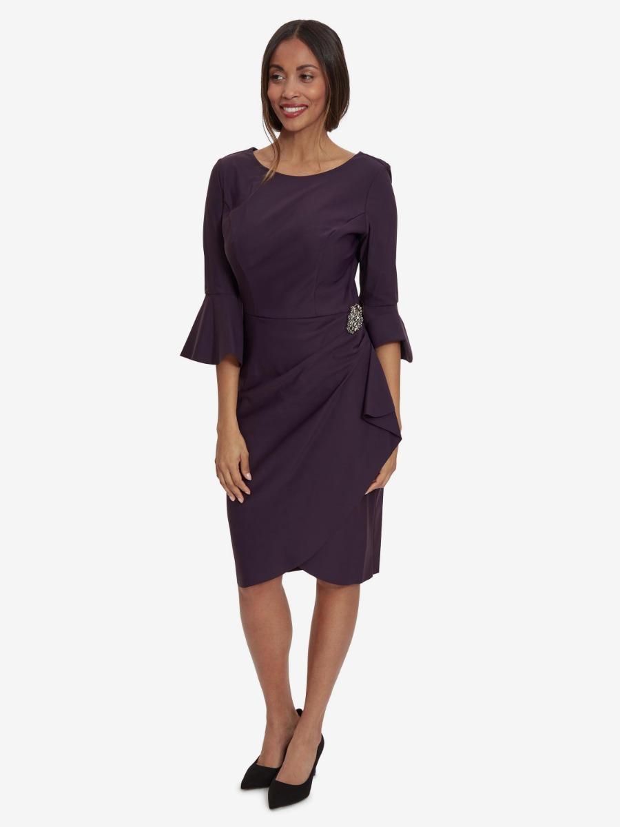 Zetta Wrap Dress With Embellishment