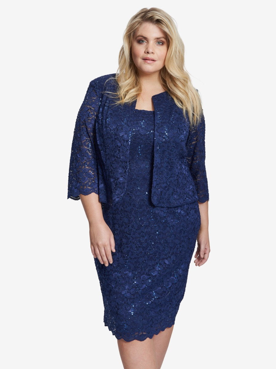 Ivette Lace Jacket And Dress With Scallop Detail