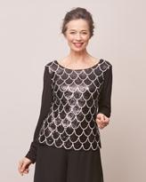 8616f564fa0988 Soho crepe blouse with sequin trim